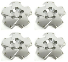 "18"" Twist Wheel Hub Center Caps Set SILVER NEW for 2002-2007 LEXUS SC430"