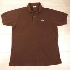 865a6a4357e Homme Lacoste Marron Vintage à Manches Courtes Designer Polo Shirt Taille 4  Moyen  E3090