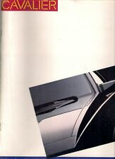 Chevrolet cavalier 1986 usa market sales brochure standard cs rs Z24