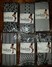 Isadora Paccini Women's 6-Pack Fishnet Lace Pantyhose Tights, One Size, Black