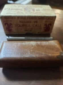VINTAGE HERTERS No. 99 Squirrel call in box