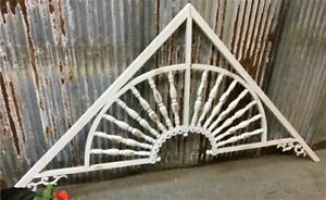 Metal Victorian Style Gingerbread Fretwork, White Architectural Gable Detail,