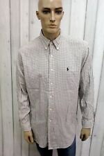 RALPH LAUREN Uomo Camicia Taglia 2XL Cotone Shirt Chemise Casual Manica Lunga