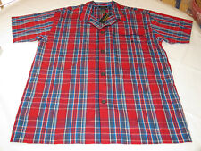 Men's Polo Sleep shirt PJ night shirt logo XL xlarge P506SR red navy blue plaid