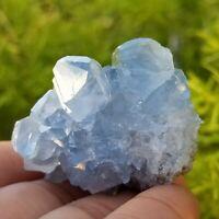 Natural Celestite Crystal, Rare Celestine Cluster from Madagascar, US Seller