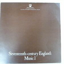 vinyl lp record SEVENTEENTH-CENTURY ENGLAND: Music 1, Open University 2. level