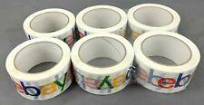 "New 6 Rolls Colored eBay Brand Logo BOPP Shipping Packing Tape 75 yards x 2"""