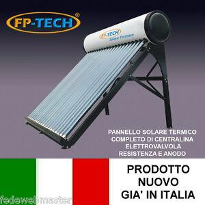 PANNELLO SOLARE TERMICO ACQUA CALDA ACCIAIO INOX 180 LT TUBI SOTTOVUOTO NATURALE