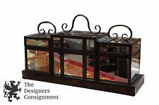 """21"""" Uttermost Mirrored Decorative Trinket 3 Box Trio Set with Stand Centerpiece"""