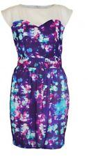 NWT Whistle & Wolf London Sweatheart Purple Sheath Dress Size 4
