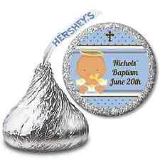 Angel Baby Hispanic Boy Personalized Hershey Kiss Baptism Christening Sticker