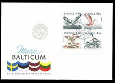 Sweden 1992 Birds Of The Baltic Booklet Pane FDC #C8541