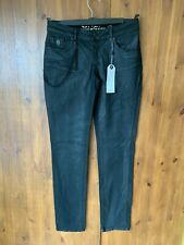 """ONLY JEANS Black Pocket Chain Slim Stretch Low Rise UK 10 / 38 / 32"""" Leg - NEW"""