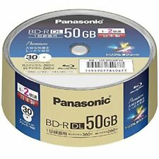 Panasonic 30pc Blu-ray 50GB 2X Made in Japan Blu-ray BD-R DL Inkjet Printable