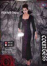 VAMPIRO Gotico Vestito contessa Halloween Taglia 12 - 14 RRP £ 16.99