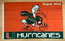 University of Miami Hurricanes 3x5 ft Flag NCAA