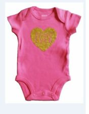 Brand New Carter's Cotton One piece - Pink with Heart  Design