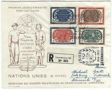 Brief einschreiben FDC  10 Jahre Vereinte Nationen   Mi 537/40