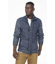 NEW EXPRESS $160 Toggle Cardigan Sweater X-Large XL Navy Mock Neck Full Zip NWT