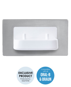 ProofVision TBCHARGE Dual In Wall Electric Toothbrush Charger - Brushed Steel