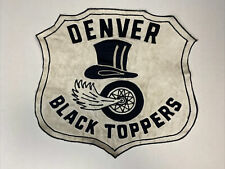 Vintage Chain Stitch Denver Black Toppers Mc Motorcycle Club Patch Embroidered