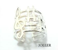 MUSIC RING SOLID SILVER WAVES SWAN LAKE BY TCHAIKOVSKY PLATINUM BY JOLLER