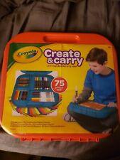 Crayola Create & Carry 2-in-1 Lap Desk & Carry Case w/ 75 Piece Art Supplies