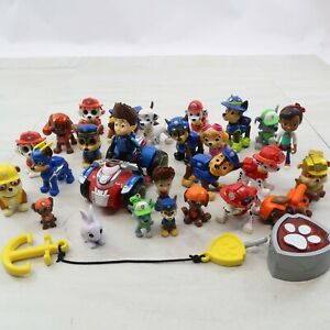 Lot of 25+ Paw Patrol Action Figures Chase Marshall Rubble Skye Rider
