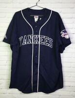 Vintage Majestic New York Yankees 51 Bernie Williams Jersey Blue Mens XXL 2XL