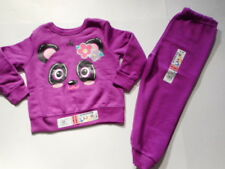 Baby Girls outfits Clothes Pants Sweats Panda Bear Sweatshirt Micro Fleece 2T