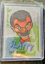Goosebumps - 1996 Topps - Silver Foil Sticker - #2 Slappy the Dummy (haunted)