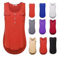 Women Ladies Summer Vest Top Sleeveless Shirt Blouse Casual Tank Tops T-Shirt
