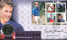 Benham SIGNED Coin Cover 2000 Prince William 18th Birthday SIGNED ANTONY ACKLAND