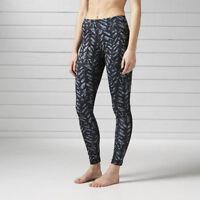 Brand New $70 Reebok Women's Running Essentials Printed Legging B47107