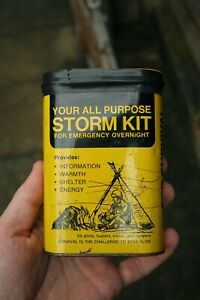 Vintage Your all purpose storm Kit for Emergency Overnight tin survival unboxing