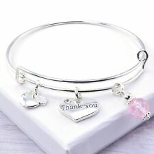 Thank you Charm Adjustable Bangle Bracelet, Teacher, Teaching, Nursery Assistant