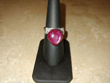 Vintage 18k White Gold Ruby and Diamond Ring
