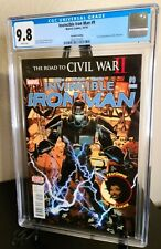 Invincible Ironman 9 2nd Print CGC 9.8 1st App RiRi Williams Ironheart 💎 2016