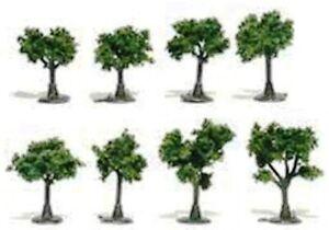 "Multi Scale - Medium Green Trees 3/4"" - 1-1/4"" Package of  8 - WOO-TR1501"