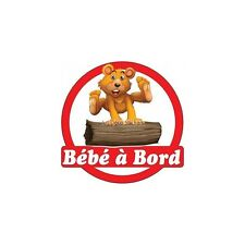 Decal Sticker vehicle car Baby à bord Pooh 16x16cm ref 3573