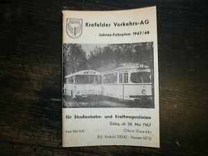 Krefelder Verkehrs AG Jahres-Fahrplan 1967/68, 128 S.,sehr schön,Tram Linien1-5