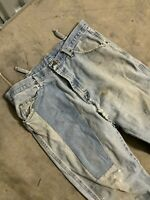 Vintage Workwear Faded Worn Wrangler Denim Jeans - 34x30
