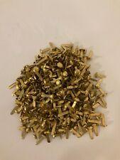 Musterklammern Musterbeutelklammern Flügelklammer gold Rundkopf 1 - 1000 12mm