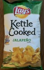 NEW LAYS KETTLE COOKED JALAPEÑO FLAVORED POTATO CHIPS 8 OZ BAG FREE SHIPPING