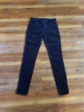 J Brand Womens 815 Mid Rise Super Skinny Velvet Jeans Cali Blue Size 28