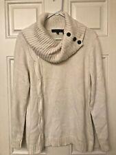 Evan Picone Sweater Cowl Neck Ivory Size XL Super Cute