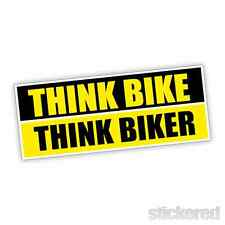 Think Vélo pense biker Pare-chocs / Fenêtre Autocollant Vinyle / autocollant 150 mm x 60mm