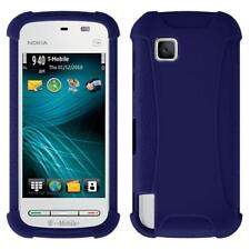AMZER Silicone Soft Skin Jelly Fit Case Cover for Nokia Nuron 5230 - Blue