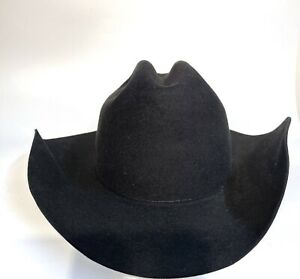 Bailey Pro 5X Cattleman Black XXXXX Fur Felt Western Hat 7 1/4 NEW