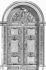 DUCAL PALACE. Door, Stanza Scudieri(Scala d'Oro) 1880 old antique print